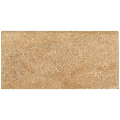 Mediterranean Walnut 12 in. x 24 in. Brushed Travertine Pool Coping (40-Pieces/80 sq. ft./Pallet)