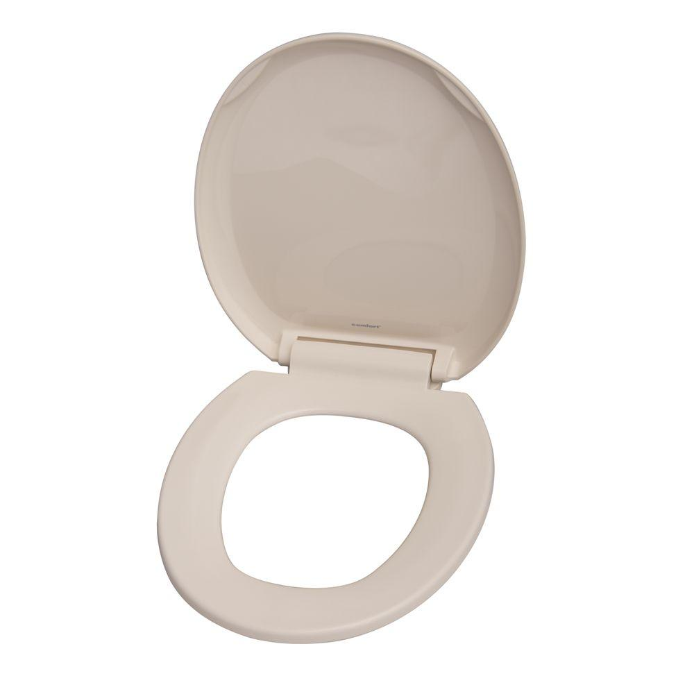 Barclay Products Round Closed Front Toilet Seat in Bisque