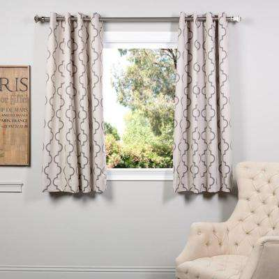 Semi-Opaque Seville Tan Grommet Blackout Curtain - 50 in. W x 63 in. L (Pair)