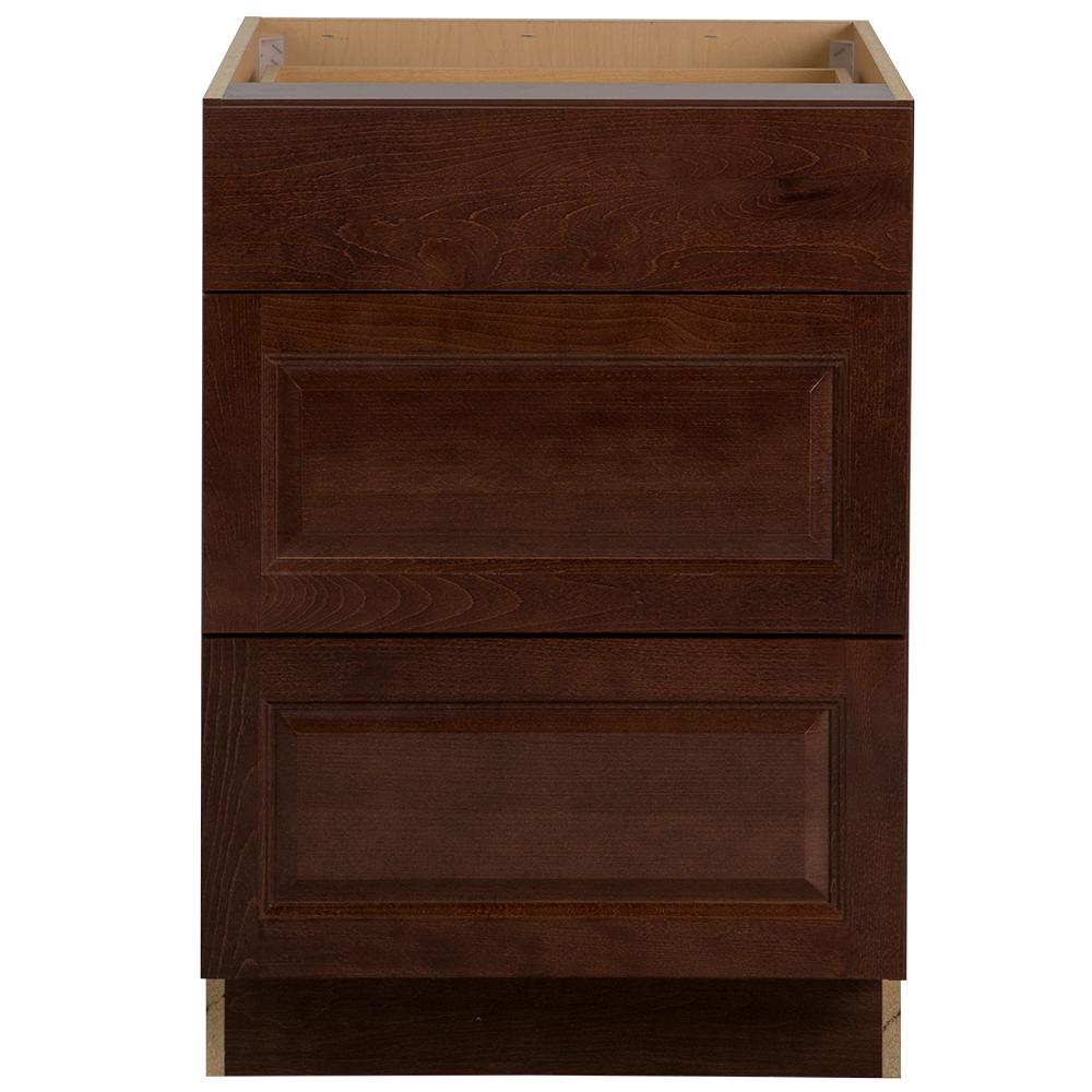 Assembled 24x34 5x24 In Drawer Base Kitchen Cabinet In: Hampton Bay Benton Assembled 24x34.5x24 In. Base Cabinet