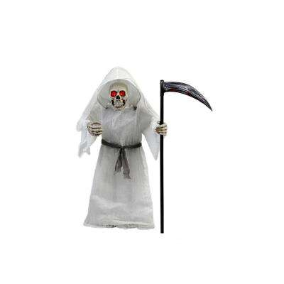 36 in. Animated Standing Grim Reaper with Scythe