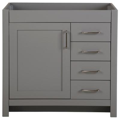 Westcourt 36 in. W x 21 in. D x 34 in. H Bath Vanity Cabinet Only in Sterling Gray