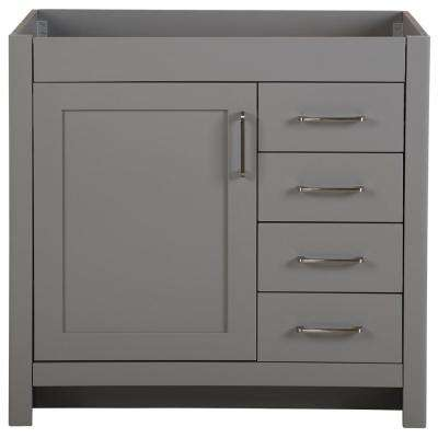 Westcourt 36.02 in. W x 21.69 in. D x 34.25 in. H Bath Vanity Cabinet Only in Sterling Gray