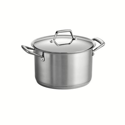 Gourmet Prima 8 qt. Stainless Steel Stock Pot with Lid