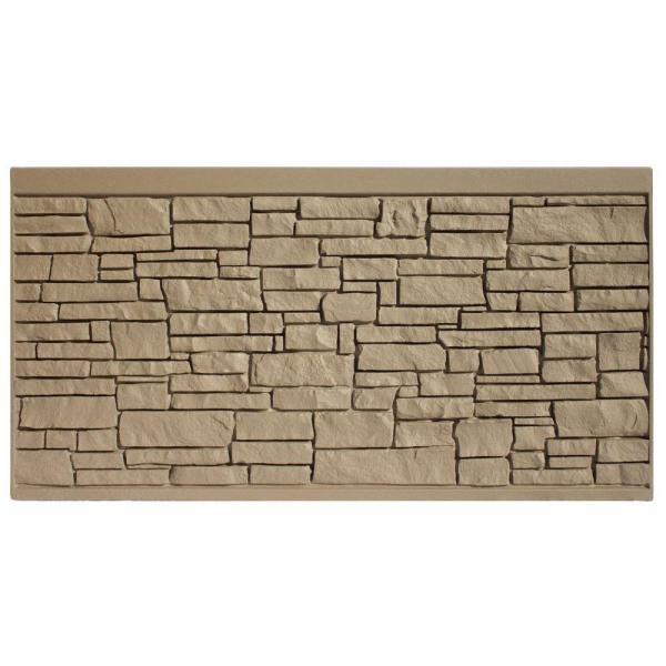 4 ft. H x 8 ft. W EcoStone Brown Composite Fence Panel