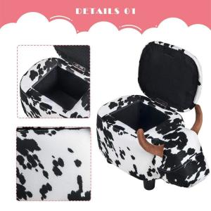 Miraculous Merax Cow Animal Storage Ottoman Footrest Stool Wf036884Aaa Short Links Chair Design For Home Short Linksinfo