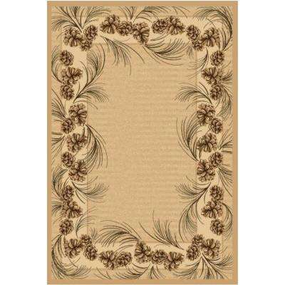 Whispering Pine Beige 9 ft. x 12 ft. Area Rug