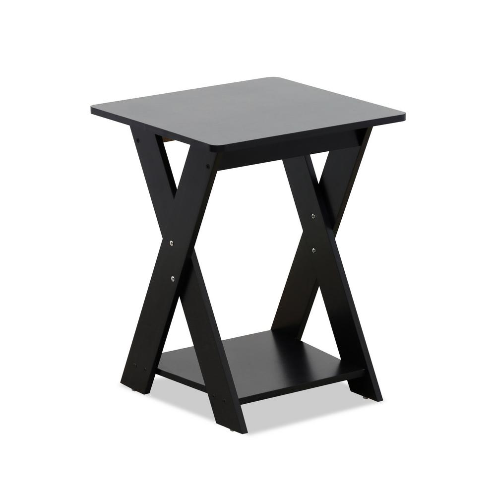 Modern Simplistic Espresso Criss-Crossed End Table