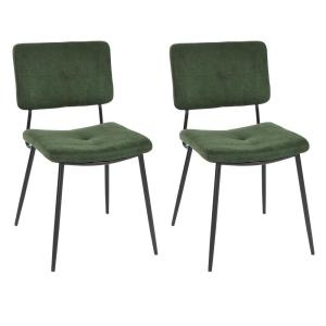 Awesome Furniturer Karomi Green Fabric Dining Side Chair Set Of 2 Ibusinesslaw Wood Chair Design Ideas Ibusinesslaworg