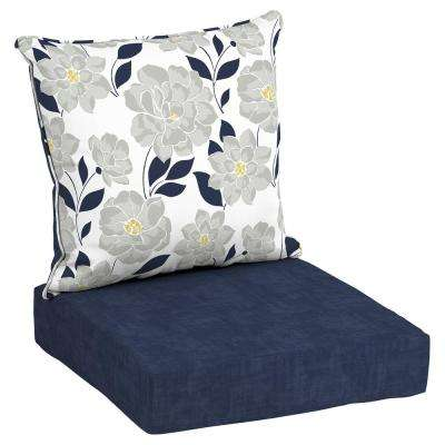 Good 24 X 24 Outdoor Lounge Chair Cushion In Olefin Flower Show