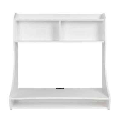 White Compact Hanging Desk