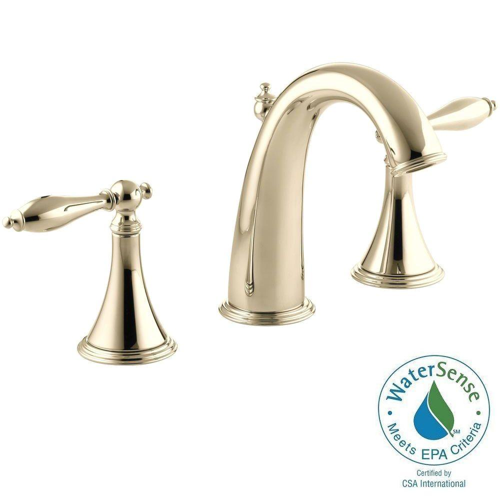 widespread 2 handle high arc bathroom faucet in vibrant - Bathroom Faucets Home Depot