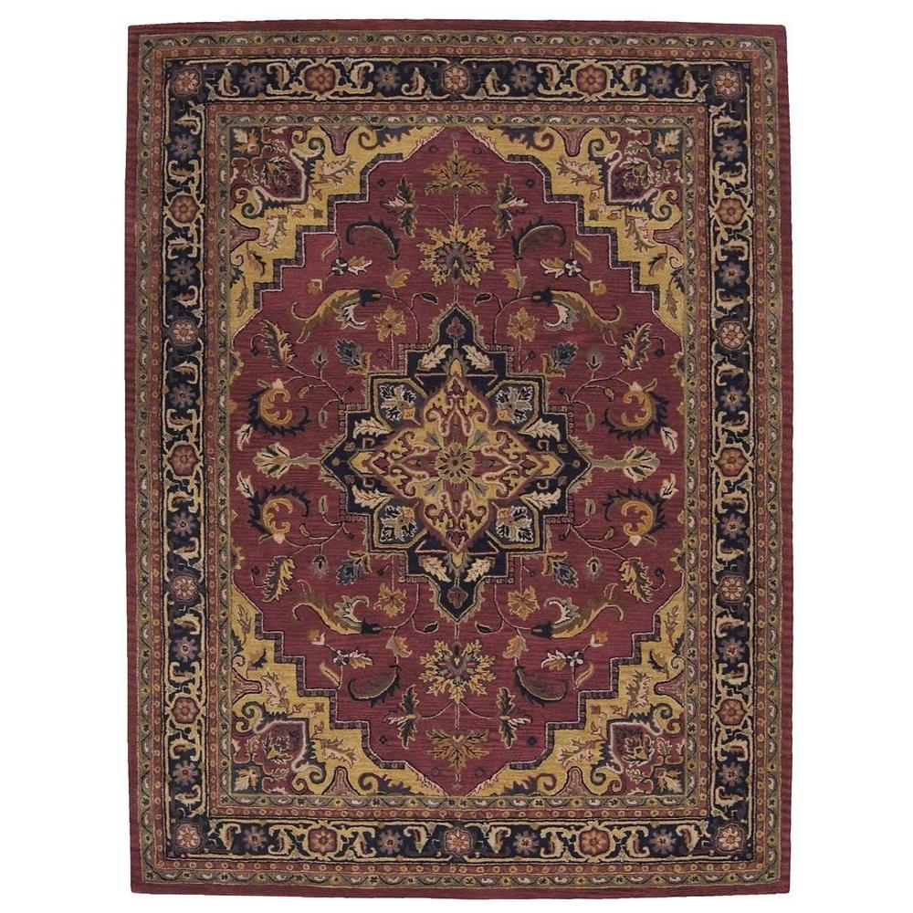 nourison india house rust 8 ft x 10 ft 6 in area rug 044983 the home depot. Black Bedroom Furniture Sets. Home Design Ideas