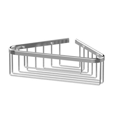 Bath Boutique Corner Shower Basket in Chrome