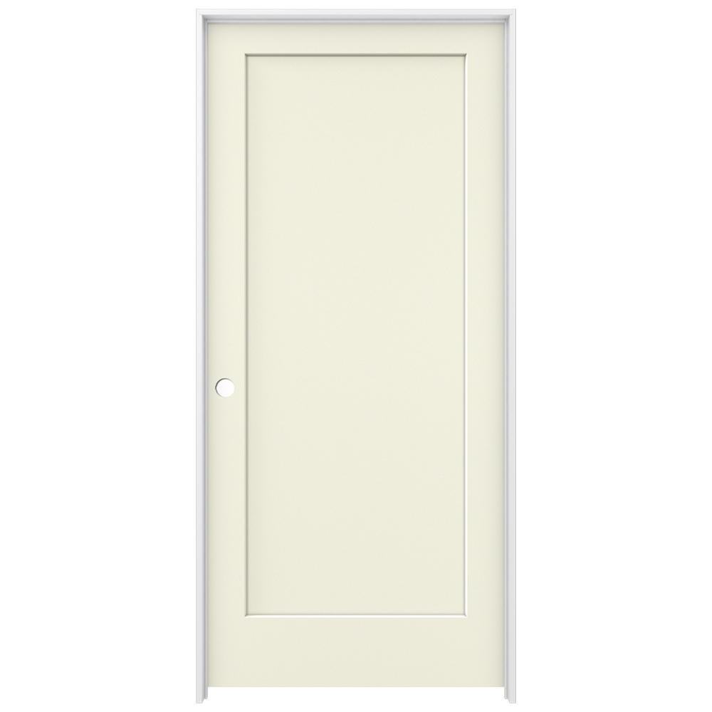 36 in. x 80 in. Madison Vanilla Painted Right-Hand Smooth Solid