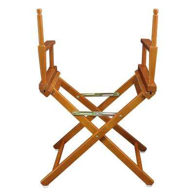18 in. Director's Chair Honey Oak Solid Wood Frame