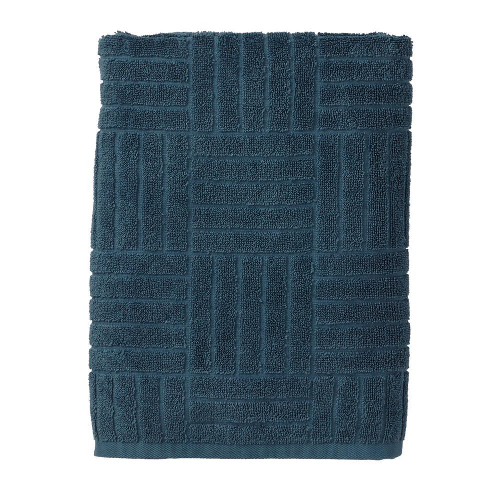 The Company Store Interlock Egyptian Cotton Single Bath Towel in Storm