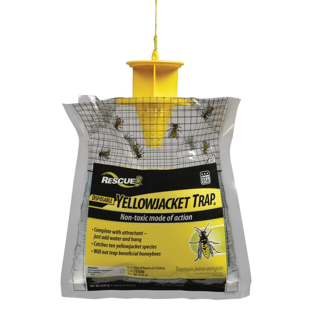 5 pack Wasp Fly Flies Bee Insect Trap Catcher Baited Bag Killer Bee Safe