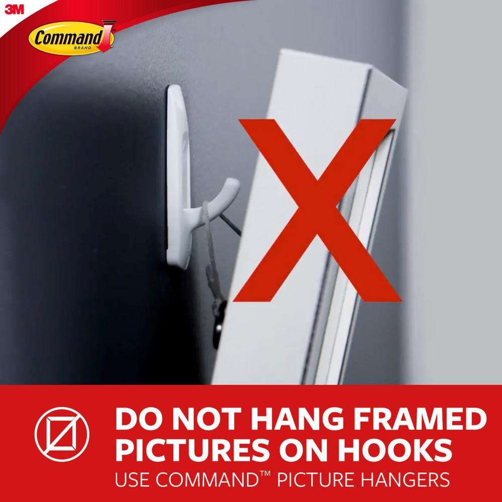 17047-ES Indoor Use Command Large 5 lb Capacity Universal Frame Hanger 2 strips 2 frame stabilizer strips 1 hanger