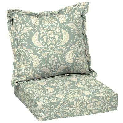 Artisans 45 in. x 24 in. Pietro Damask Deep Seating Outdoor Lounge Chair Cushion Set