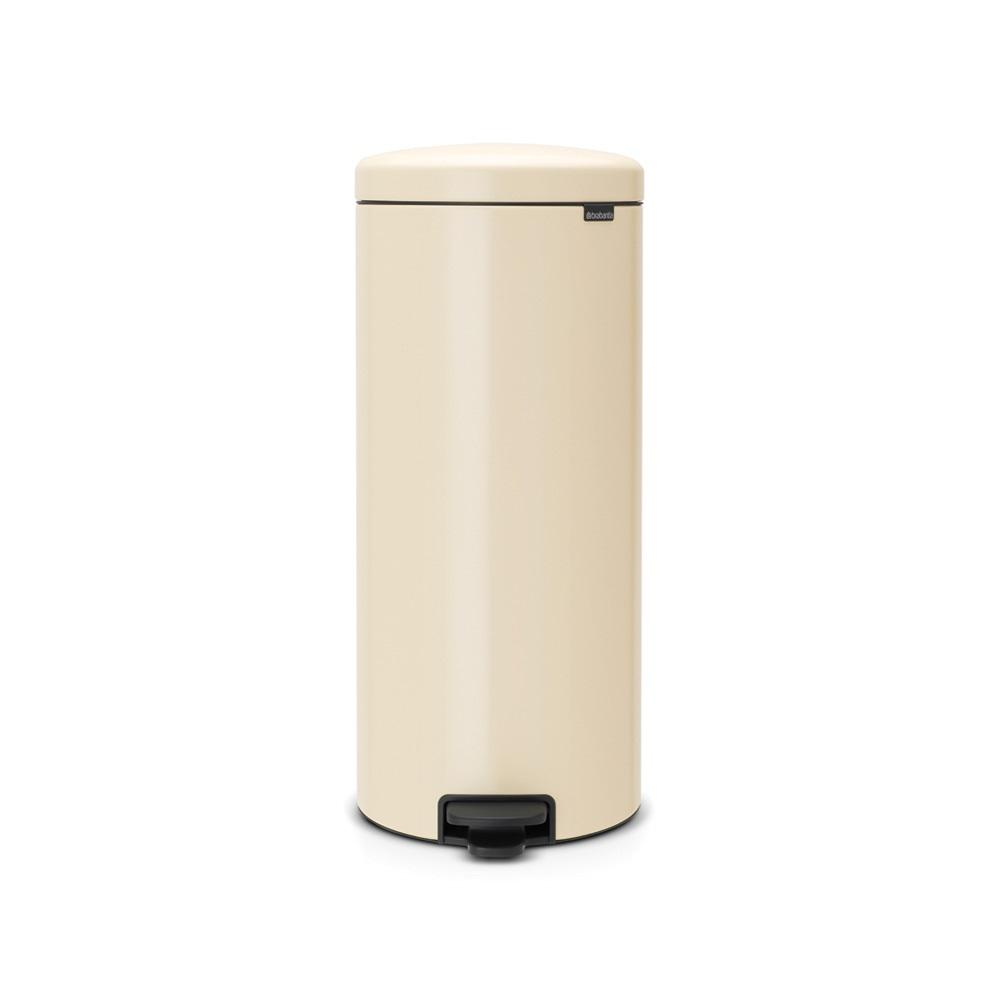 8 Gal. Almond Steel Step-On Trash Can