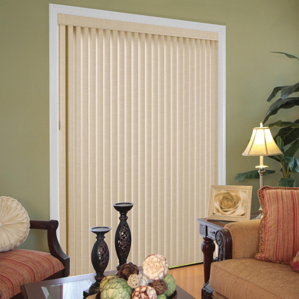 Hampton Bay Textured Khaki 3.5 in. Vertical Blind - 78 in. W x 84 in. L