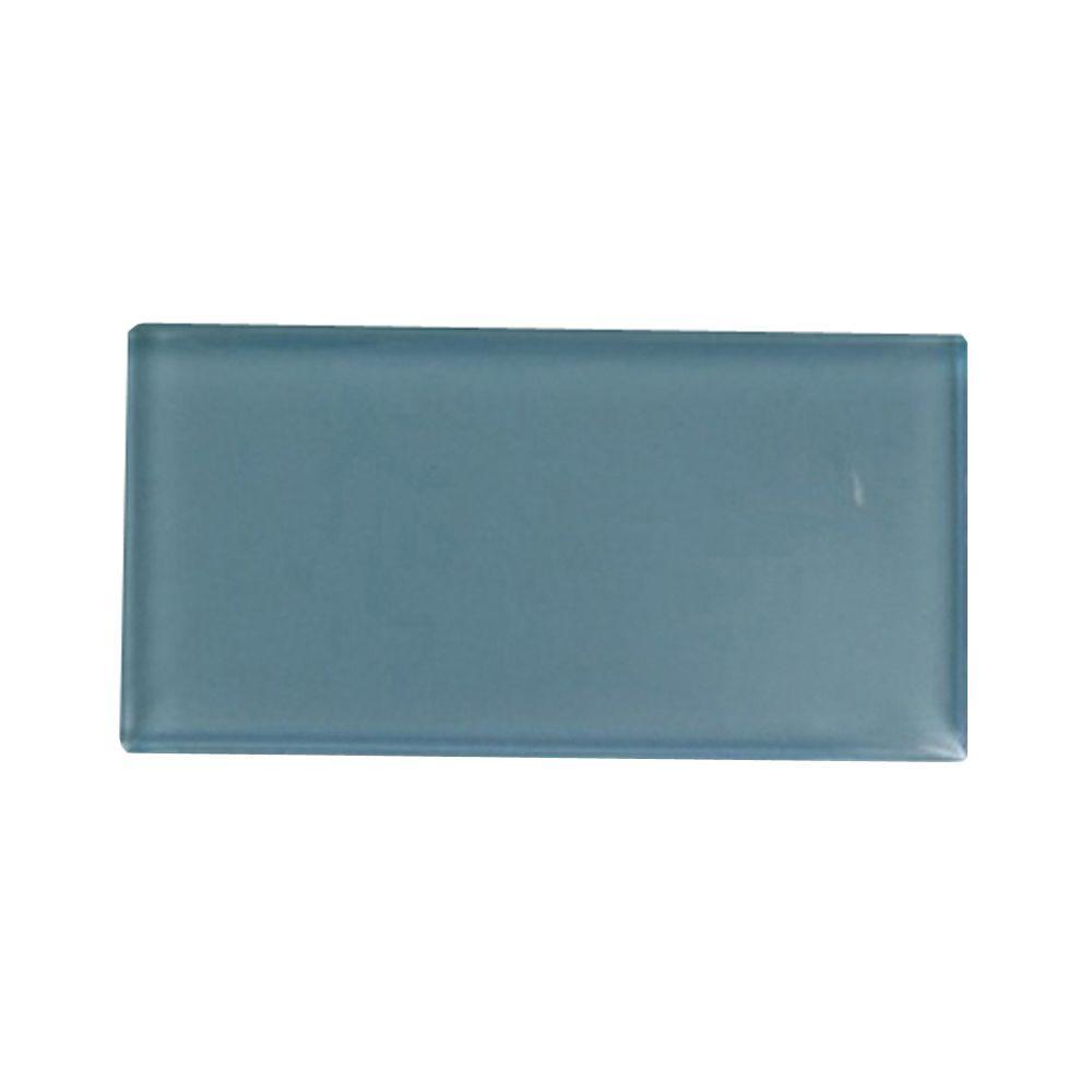Splashback Tile Contempo Turquoise Polished Glass Tile