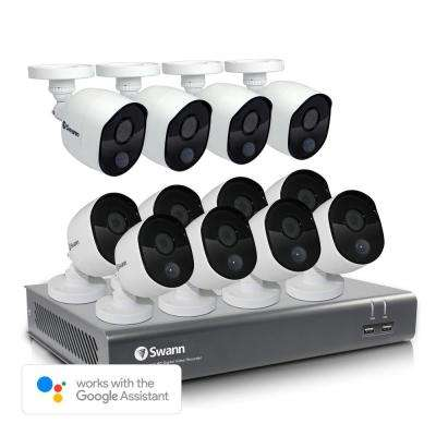 16-Channel 1080p 1TB DVR Surveillance System with 12 PIR Wired Bullet Cameras