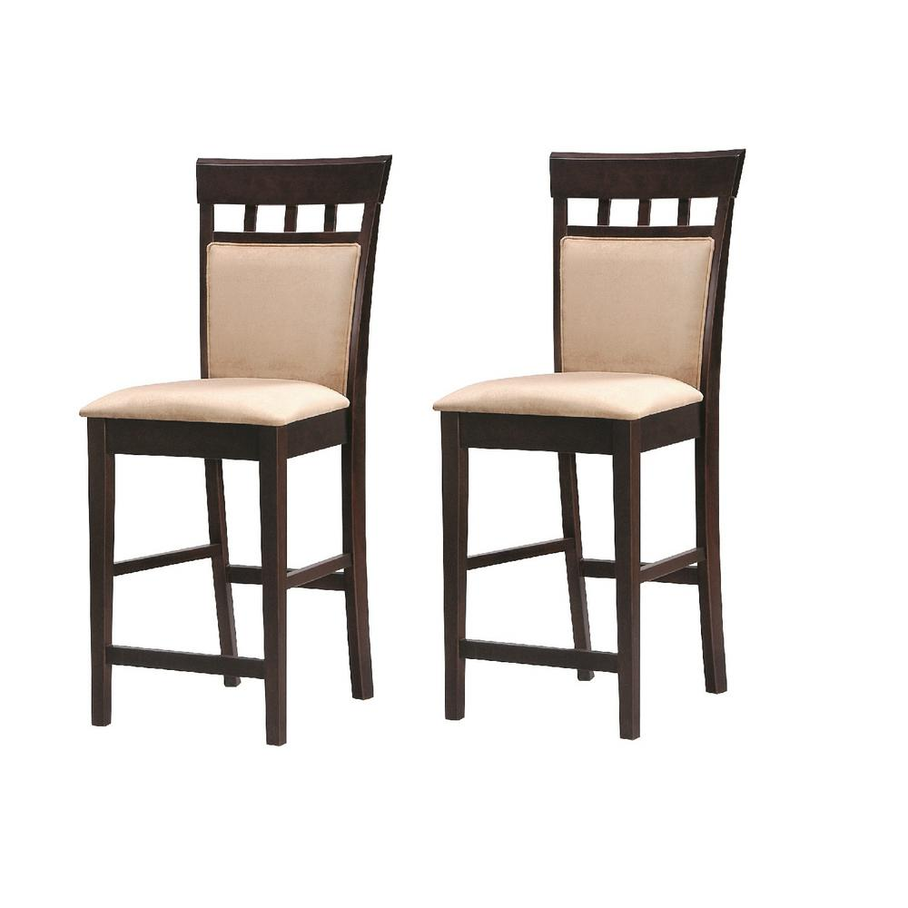 Sensational Gabriel Collection 24 In Cappuccino Counter Height Bar Stool Set Of 2 Bralicious Painted Fabric Chair Ideas Braliciousco