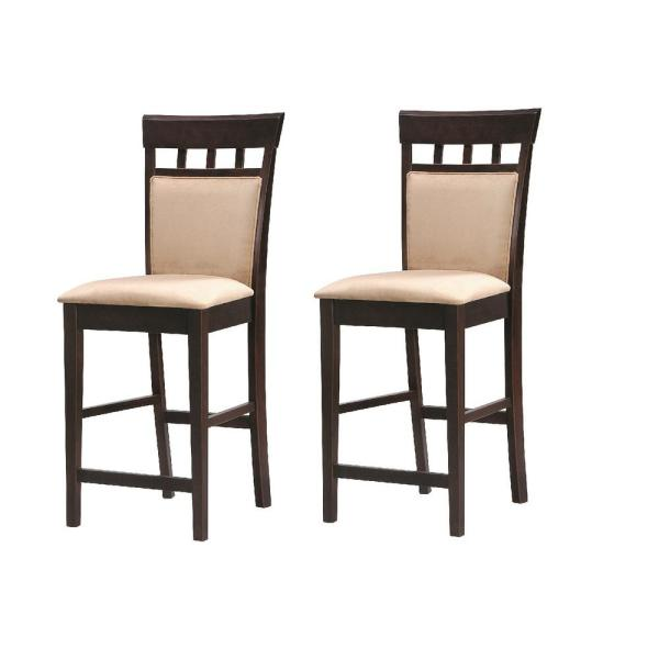 Fabulous Gabriel Collection 24 In Cappuccino Counter Height Bar Stool Set Of 2 Machost Co Dining Chair Design Ideas Machostcouk