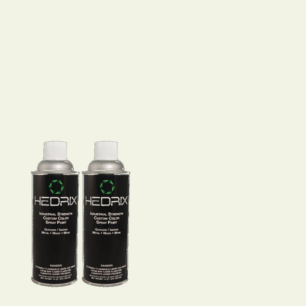 Hedrix 11 oz. Match of 5C4-2 Gardenia Semi-Gloss Custom Spray Paint (2-Pack)