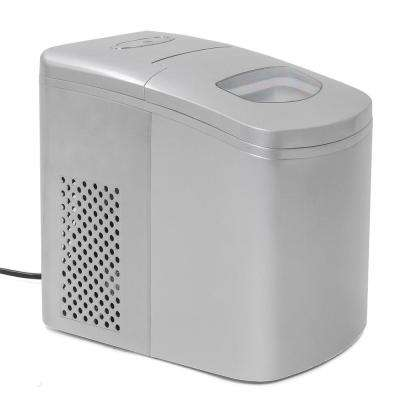 9.5 in. 1.35 lb. Portable Countertop Ice Maker in Silver