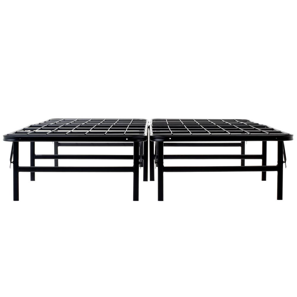 zinus modern studio platforma queen metal bed frame hd mbbf 6q the home depot. Black Bedroom Furniture Sets. Home Design Ideas
