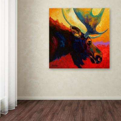 "35 in. x 35 in. ""Alaska Spirit Moose"" by Marion Rose Printed Canvas Wall Art"