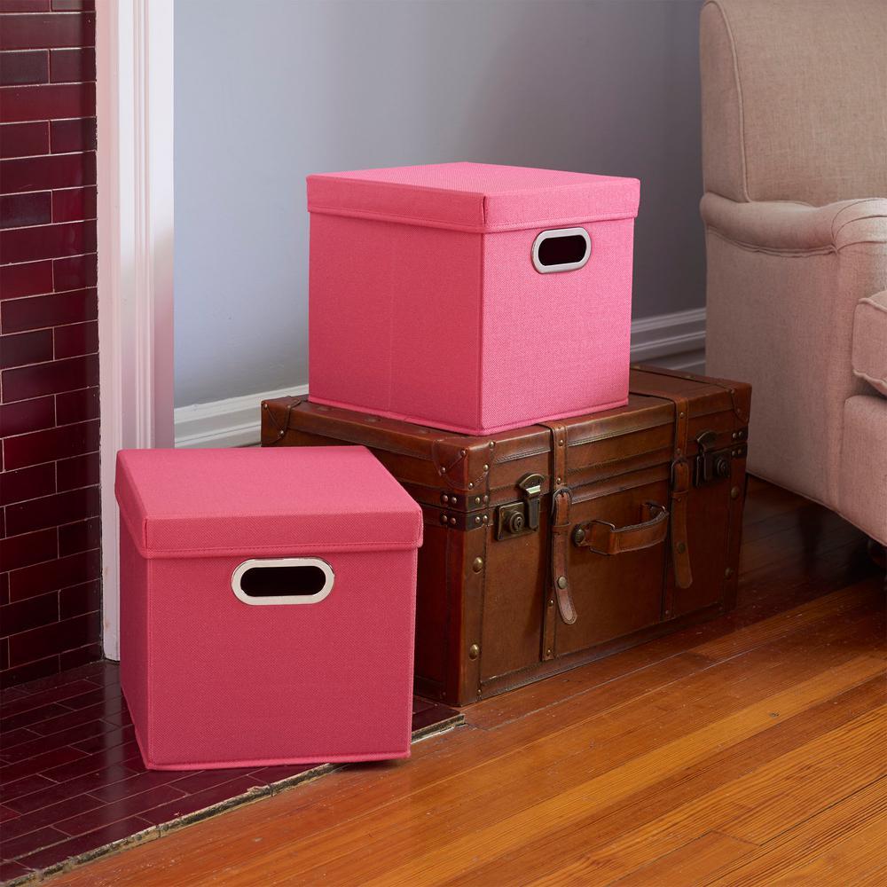 11 in. x 11 in. Strawberry Linen Bin Set (2-Pack)