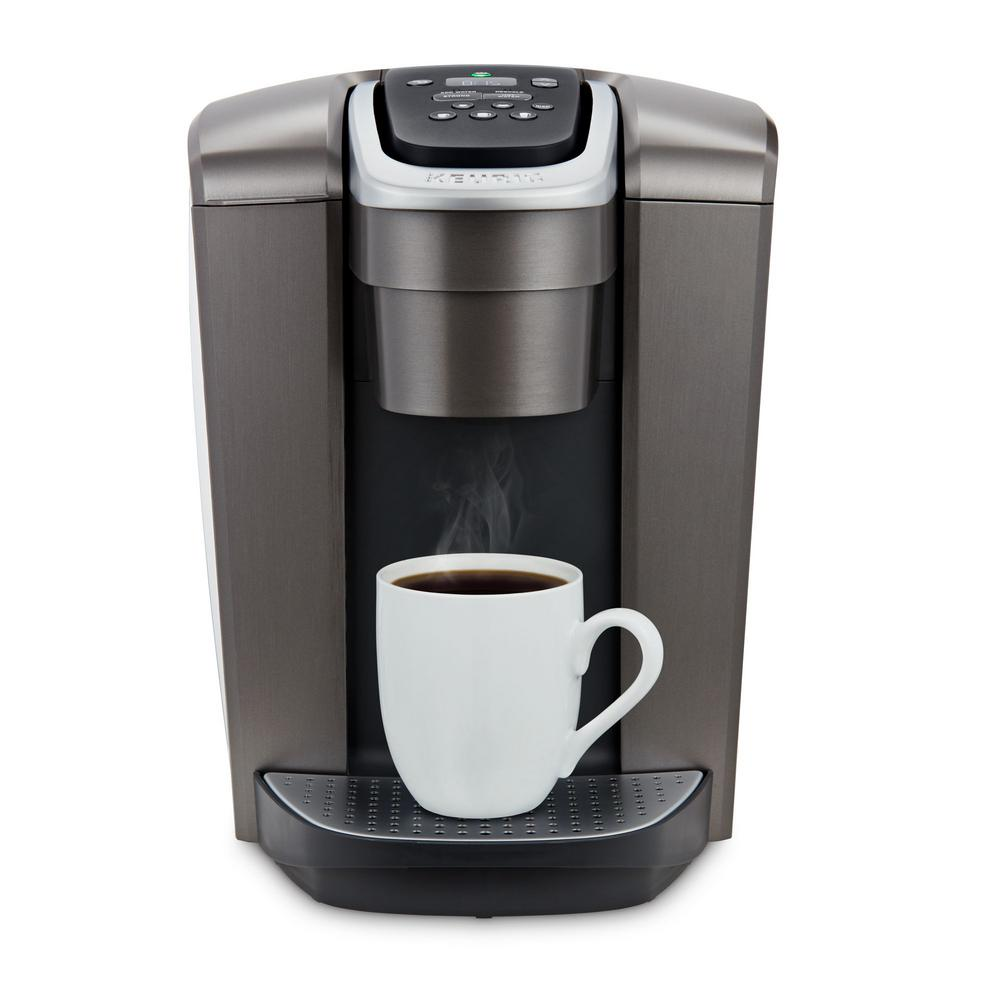 K-Elite Brushed Slate Single Serve Coffee Maker with Temperature Control