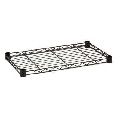 1 in. H x 36 in. W x 14 in. D 350 lb. Capacity Freestanding Steel Shelf in Black