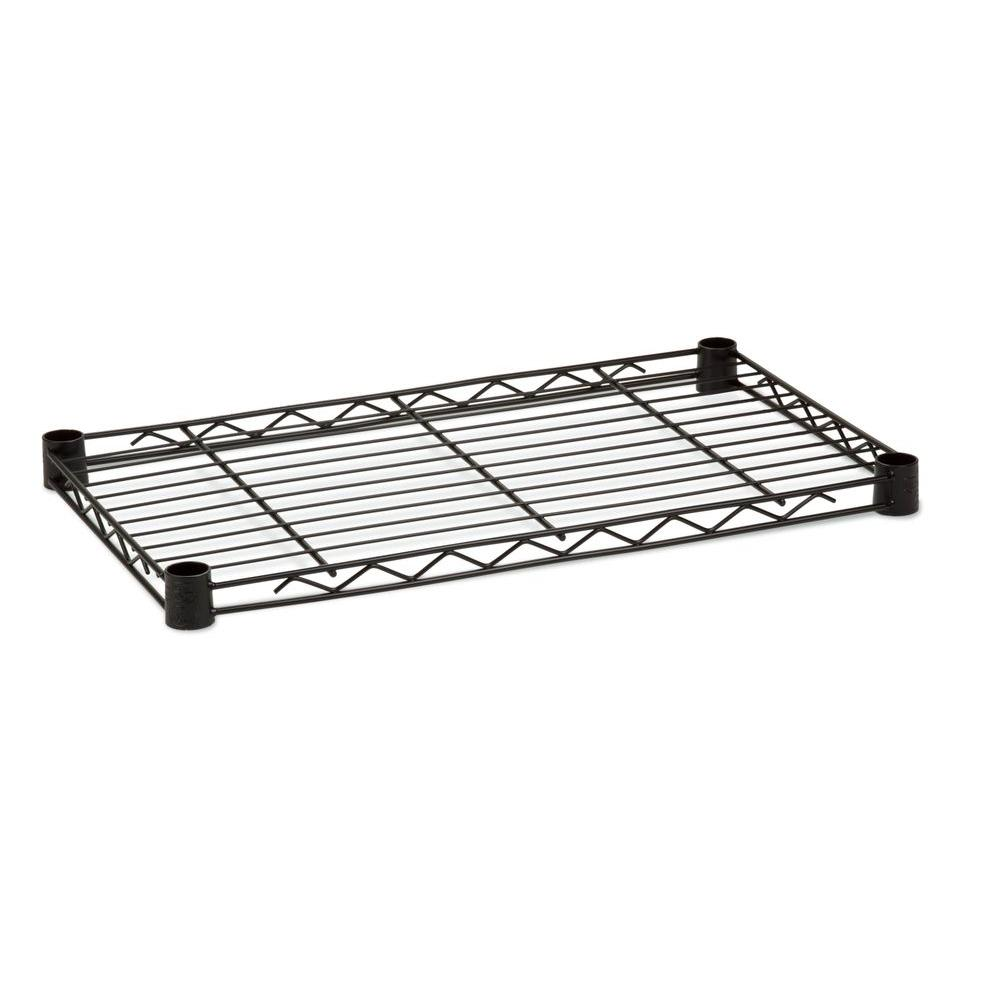 Honey-Can-Do 1 in. H x 24 in. W x 14 in. D 250 lb. Capacity Freestanding Steel Shelf in Black