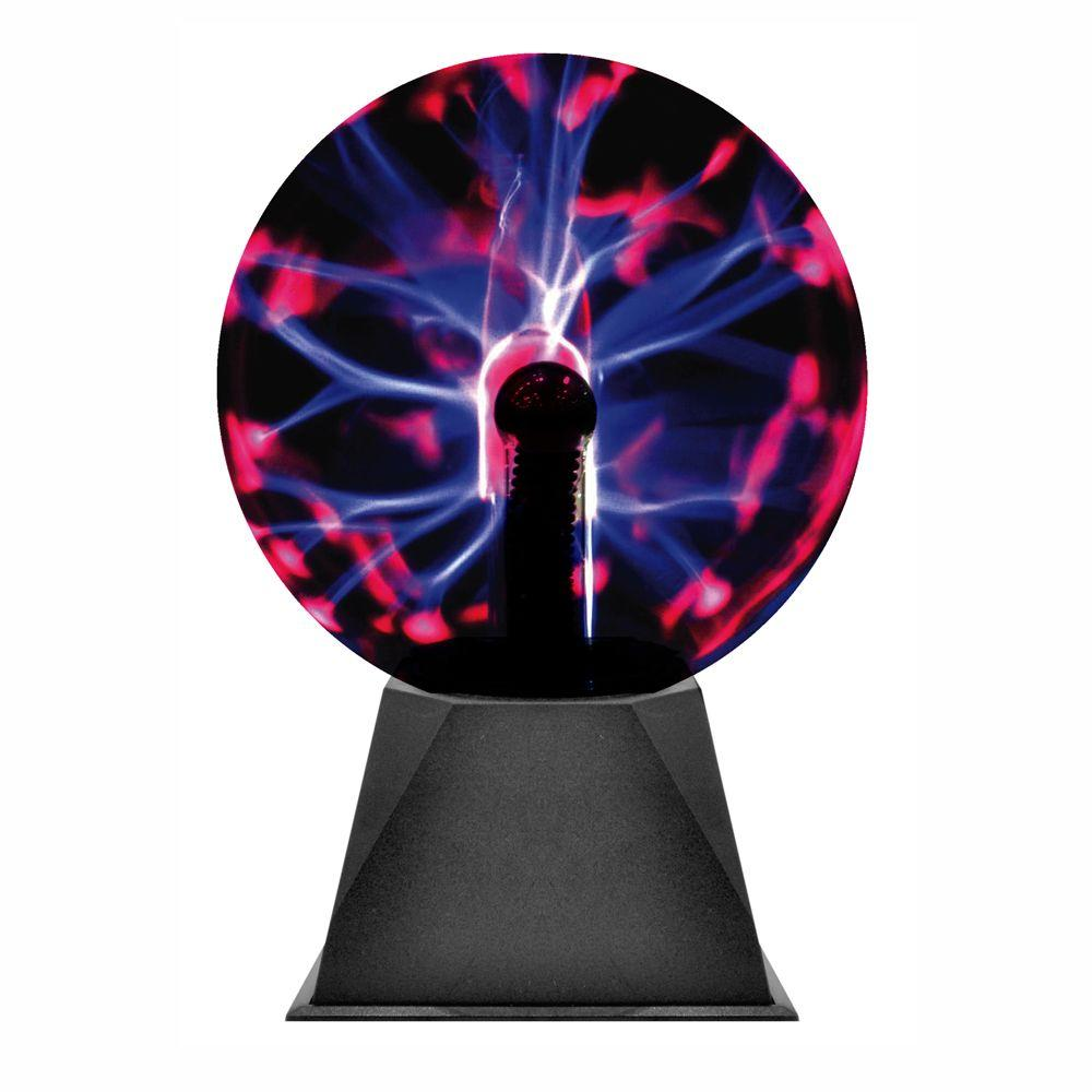 Rock Your Room 8 in. Plasma Purple Globe Glassball Light-DISCONTINUED
