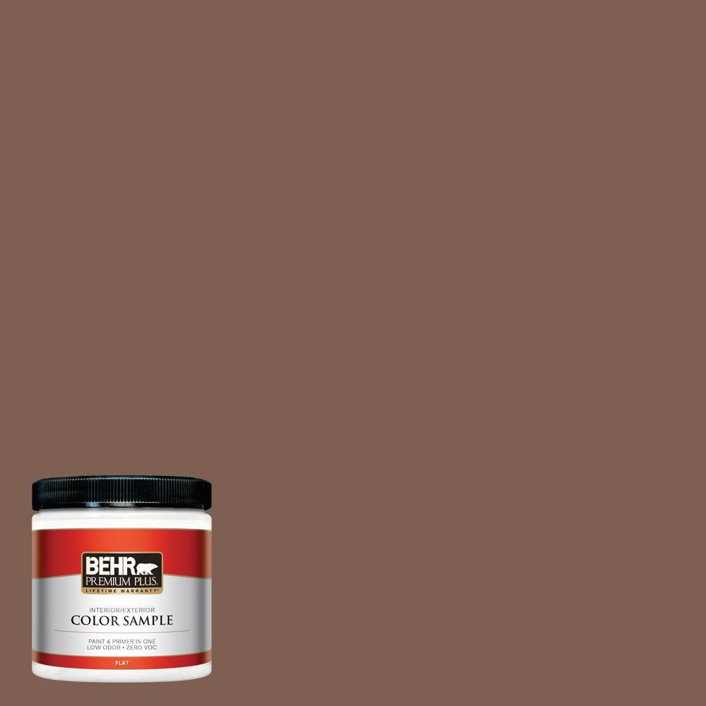 8 oz. #N160-6 Spanish Chestnut Interior/Exterior Paint Sample