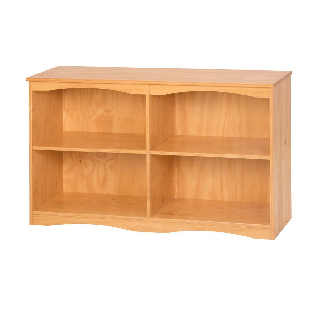 Essentials Natural 51 in. W Wooden Bookcase