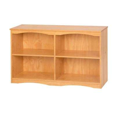 Essentials Natural 51 in. W Wooden Bookcase