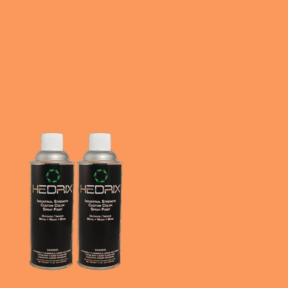 Hedrix 11 oz. Match of 1B17-6 Carotene Gloss Custom Spray Paint (2-Pack)