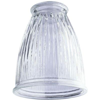 5 in. Crystal Clear Pleated Shade with 2-1/4 in. Fitter and 4-1/4 in. Width