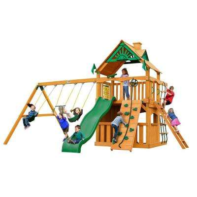 Chateau Clubhouse with Amber Posts Cedar Playset