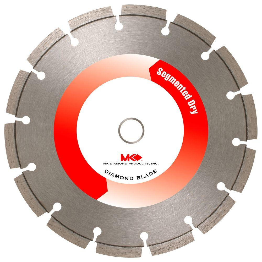 MK Diamond 7 in. Segmented Rim Dry-Cutting General-Purpose Diamond Circular Saw Blade