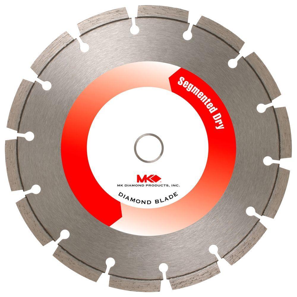 7 in. Segmented Rim Dry-Cutting General-Purpose Diamond Circular Saw Blade