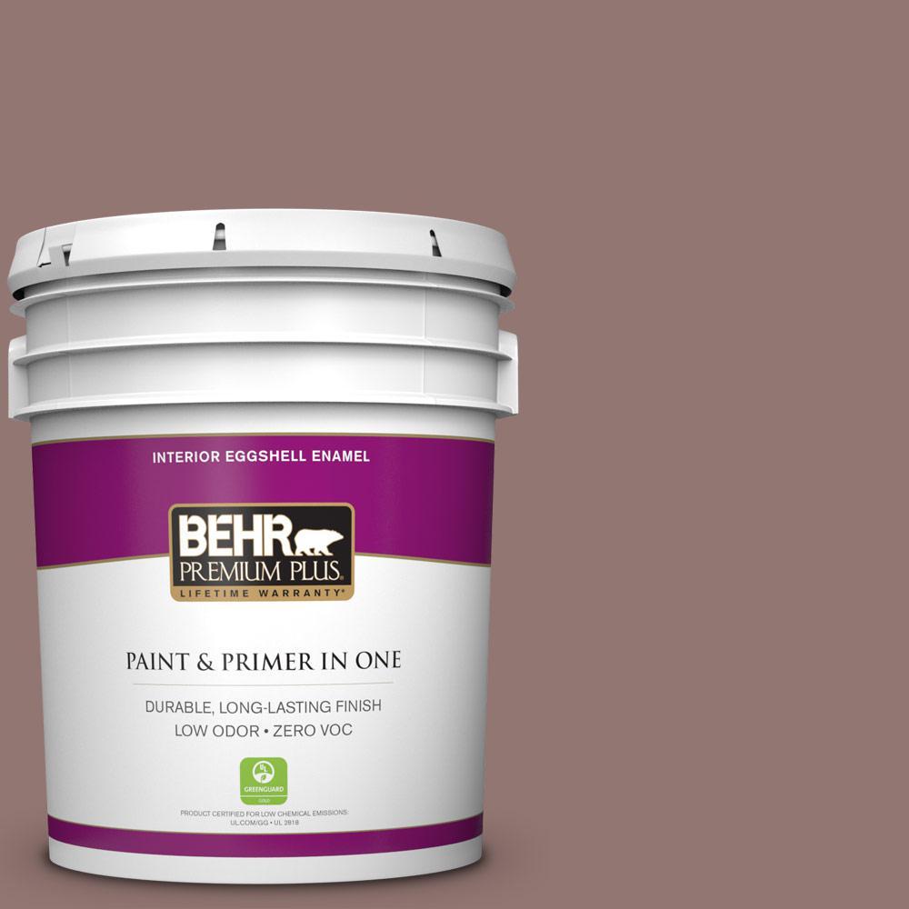 BEHR Premium Plus 5 gal. #710B-5 Milk Chocolate Eggshell Enamel Zero VOC Interior Paint and Primer in One