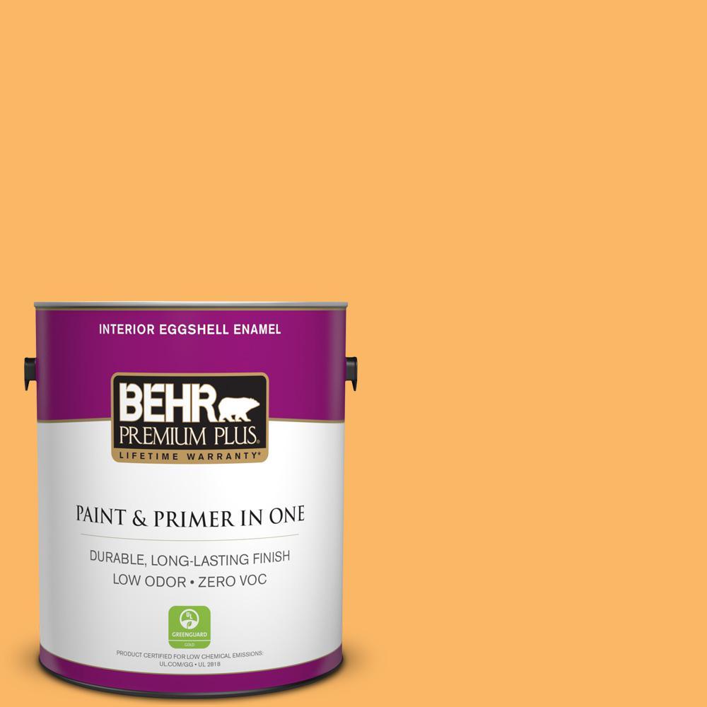 1-gal. #HDC-SM14-11 Yellow Polka Dot Zero VOC Eggshell Enamel Interior Paint