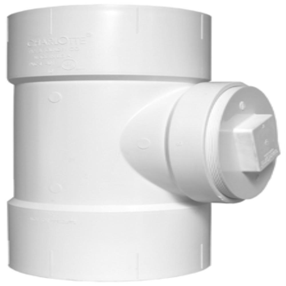 Charlotte Pipe 8 in. PVC DWV Cleanout Tee with Plug